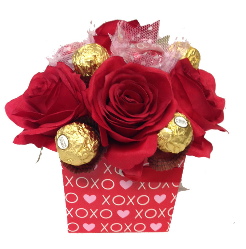Chocolates & Roses Bouquet Chocolate Bouquets